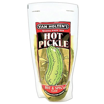 Van Holten s Jumbo Hot Pickle, 48/Pack