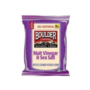Boulder Canyon Malt Vinegar & Sea Salt Potato Chips 24/Pack 2 Oz.