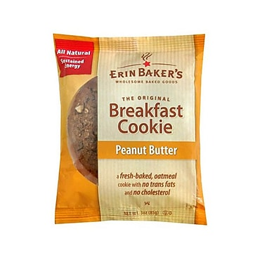 Erin Baker s Breakfast Peanut Butter Individually Wrapped Cookies 3 Oz. 12/Pack