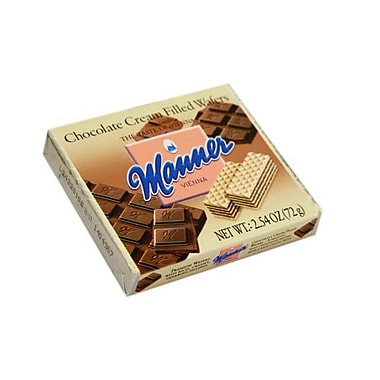 Manner Vienna Wafers Chocolate Pocket Pack 2.54 Oz. 24/Pack