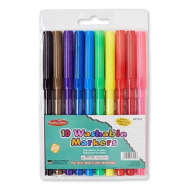 Charles Leonard Washable Marker, Assorted,, 60/Pack (CHL47410)