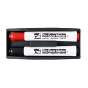 Charles Leonard™ Magnetic Whiteboard Eraser With 2 Dry Erase Markers, Gray