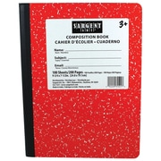"Sargent Art 9.75"" x 7.5"" 100-sheet Hard Cover Composition Book, Red, 6/Pack (SAR231521)"