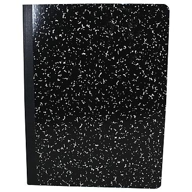 Sargent Art - Cahier de composition à couverture rigide de 100 pages 9,75 x 7,5 (po), noir, 6/paquet (SAR231538)