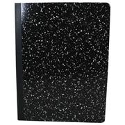"Sargent Art 9.75"" x 7.5"" 100-sheet Grid Hard Cover Composition Book, Black, 6/Pack (SAR231538)"