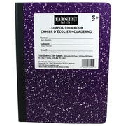 "Sargent Art 9.75"" x 7.5"" 100-sheet Hard Cover Composition Book, Purple, 6/Pack (SAR231545)"