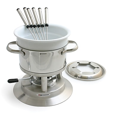 Swissmar® Arosa Stainless Steel Fondue Set, 11-Piece