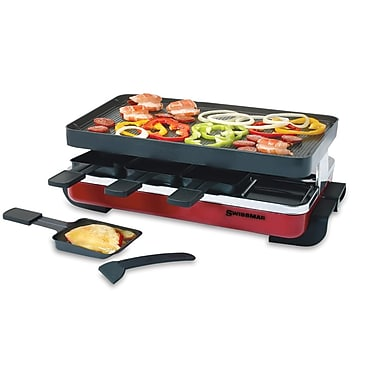 Swissmar® 8 Person Classic Red Raclette, Cast Aluminum