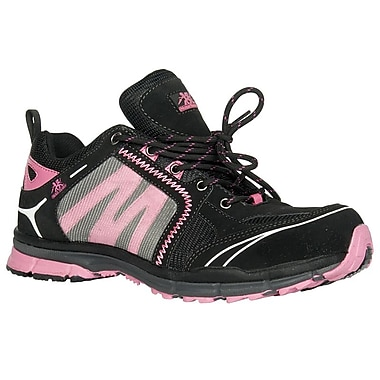 Moxie Trades Robin Ladies CSA Lightweight Safety Runners, Size 7.5, Black/Pink