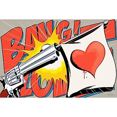Maxwell Dickson Love Gun Graphic Art on Wrapped Canvas; 18'' H x 24'' W