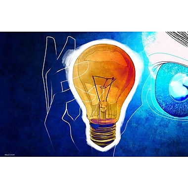 Maxwell Dickson ''Bulb Water'' Graphic Art on Canvas; 18'' H x 24'' W