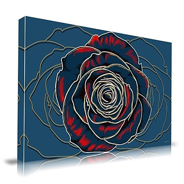 Maxwell Dickson Rose Graphic Art on Wrapped Canvas; 18'' H x 24'' W