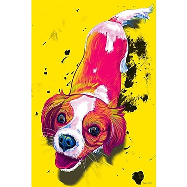 Maxwell Dickson ''ZOE'' Graphic Art on Canvas; 30'' H x 20'' W
