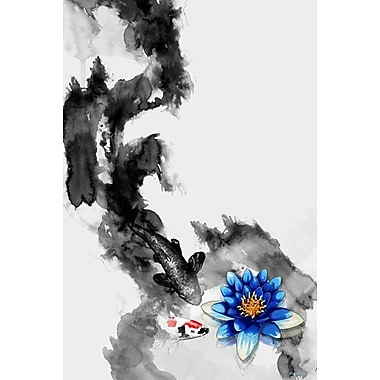 Maxwell Dickson 'WaterLily' Graphic Art on Canvas; 36'' H x 24'' W