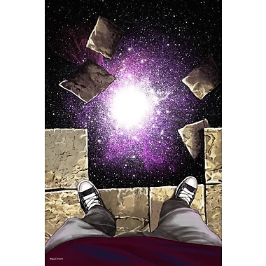 Maxwell Dickson ''Falling Floor'' Graphic Art on Wrapped Canvas; 16'' H x 20'' W