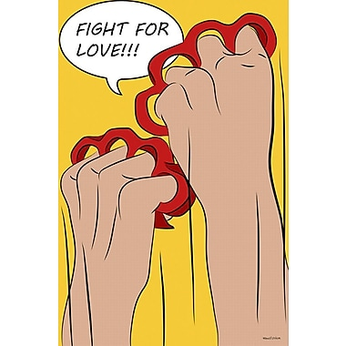 Maxwell Dickson ''Fight for Love'' Graphic Art on Wrapped Canvas; 24'' H x 36'' W