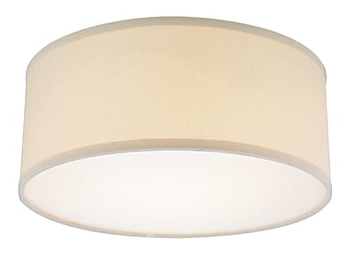 Dolan Designs Recesso Fabbricato 14.5'' Linen Drum Pendant Shade