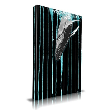 Maxwell Dickson Whale Graphic Art on Wrapped Canvas; 20'' H x 16'' W
