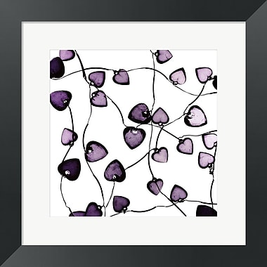 Evive Designs Glass Hearts by Mark Baker Framed Graphic Art