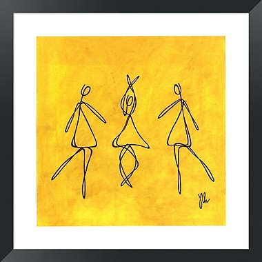 Evive Designs Joy - Dancers by Joyce McAndrews Framed Graphic Art