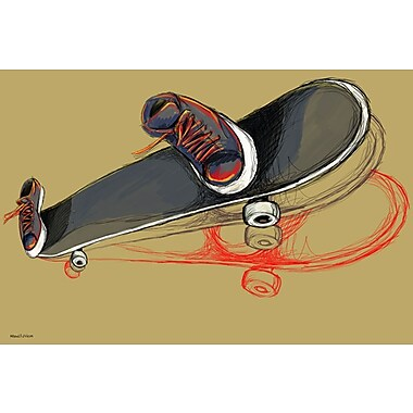 Maxwell Dickson ''Skater Skateboard'' Painting Print on Canvas; 20'' H x 30'' W