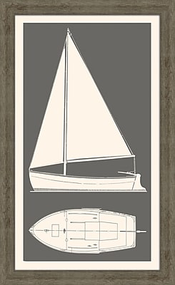 Melissa Van Hise Sail Boat II Framed Graphic Art; Kendal Charcol