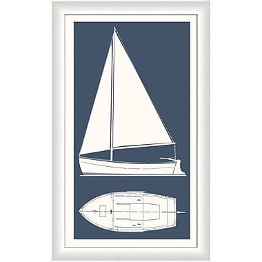 Melissa Van Hise Sail Boat II Framed Graphic Art; Bay Blue
