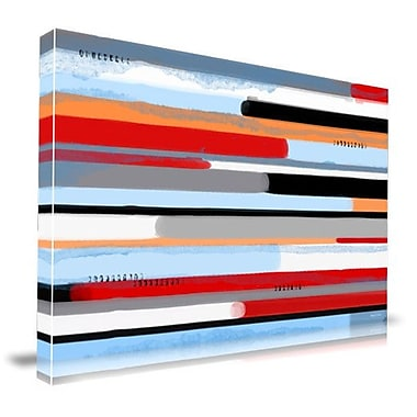 Maxwell Dickson Stream Graphic Art on Wrapped Canvas; 24'' H x 36'' W