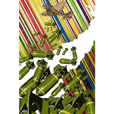 Maxwell Dickson Dropping Bombs Graphic Art on Wrapped Canvas; 30'' H x 20'' W