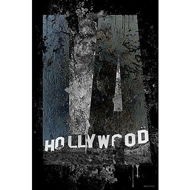 Maxwell Dickson ''Hollywood'' Graphic Art on Canvas; 36'' H x 48'' W
