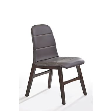New Spec Cafe Genuine Leather Upholstered Dining Chair (Set of 2)