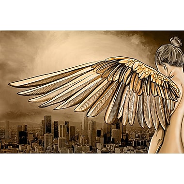 Maxwell Dickson City of Angels Graphic Art on Canvas; 16'' H x 20'' W