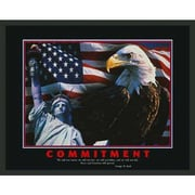 Frames By Mail Motivational Commitment Framed Graphic Art
