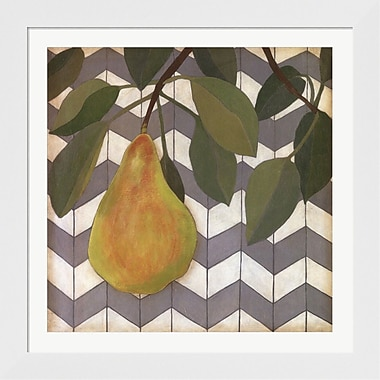 Evive Designs Fruit and Pattern II by Megan Meagher Framed Graphic Art