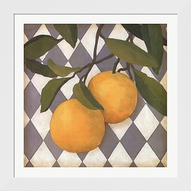 Evive Designs Fruit and Pattern IV by Megan Meagher Framed Graphic Art