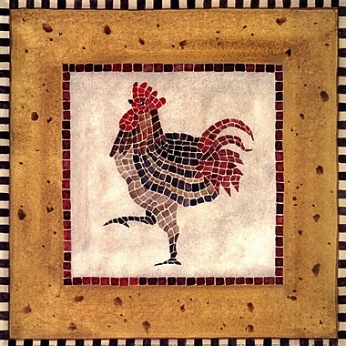 Evive Designs Mosaic Rooster No.1 by Katharine Gracey Graphic Art