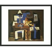 Frames By Mail 'Three Musicians' by Pablo Picasso Framed Graphic Art