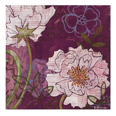 Evive Designs White Peonies by Kate Birch Painting Print