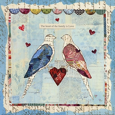 Evive Designs Love Birds Square by Courtney Prahl Graphic Art