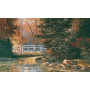 York Wallcoverings Mural Portfolio II Forest with Weathered Wood Bridge Wall Mural; 72'' H x 126'' W
