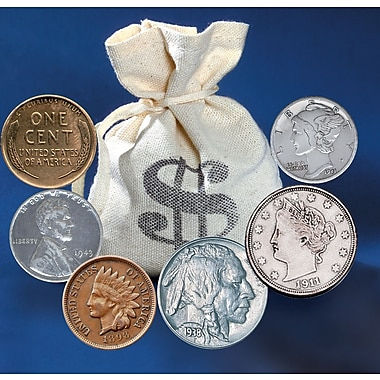 American Coin Treasure 60 Historic Coins Bankers Bag