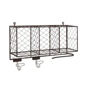 Cole & Grey Multipurpose Metal Shelf w/ Hooks