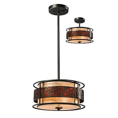 Z-Lite Milan 3-Light Drum Pendant; 54'' H x 14'' W x 14'' D