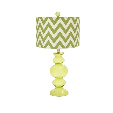 Woodland Imports Styled 26'' Table Lamp; Green