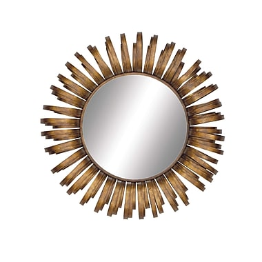 Woodland Imports Radiating Metal Wall Mirror