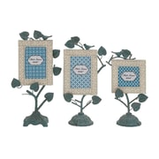 Cole & Grey Creative Incredible Metal 3 Piece  Picture Frame Set; Blue