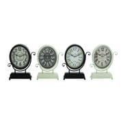 Woodland Imports Yangtze's 4 Piece Smart Metal Desk Clock Set