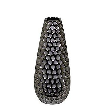Woodland Imports Hammered Exquisite Ceramic Vase; Small