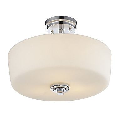 Z-Lite Lamina 3-Light Semi Flush Mount; Chrome