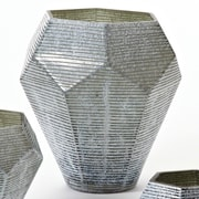 Global Views Faceted Stria Vase; Large